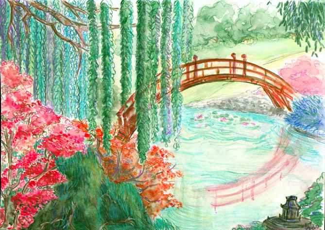 dessin jardin japonais best with dessin jardin japonais good stunning nature garden jardins. Black Bedroom Furniture Sets. Home Design Ideas